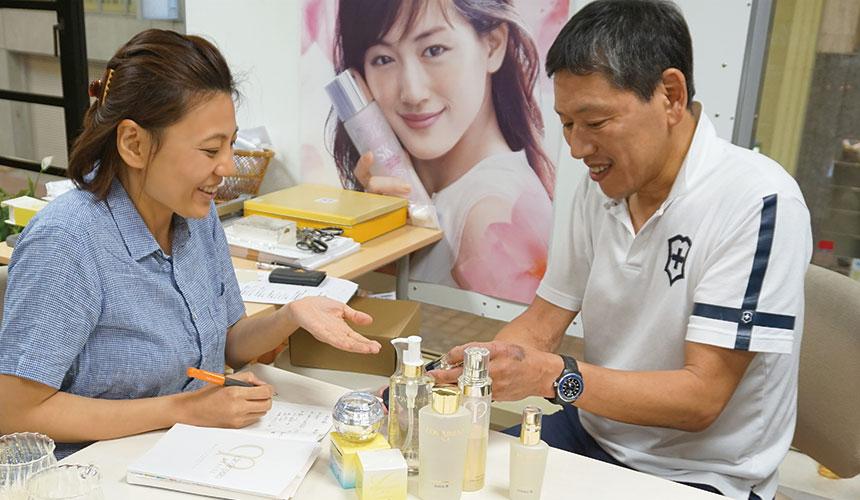 資生堂認證化妝品專門店:神戶元町「もとぶら」店長森さん