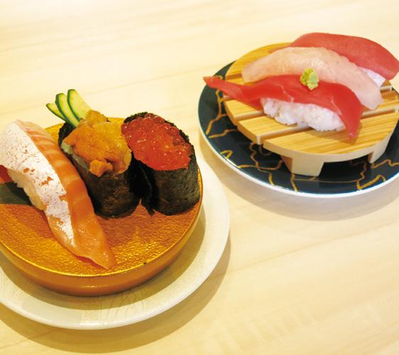 姬路必去JR站旁集时尚、伴手礼与美食的「piole HIMEJI大型综合购物广场」回转寿司三点拼盘